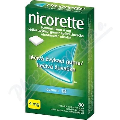 Nicorette Icemint Gum 4mg léčivá žvýkací guma 30