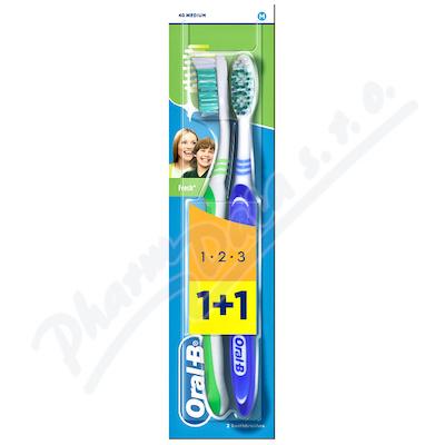 Oral-B zubní kart.3Effect Natural Fresh 1+1