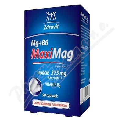MaxiMag Hořčík 375mg+B6 50 tobolek