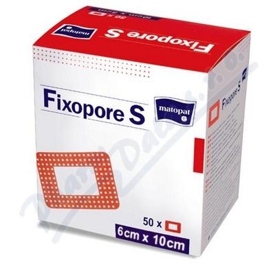 Fixopore S sterilní náplast 6x10cm 50ks