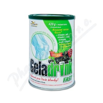 Geladrink Fast nápoj černý rybíz 420g