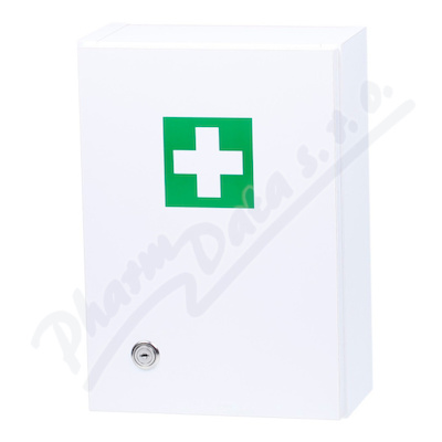 Lékárnička - bílá dřevěná s náplní do 5 osob-ZM 05