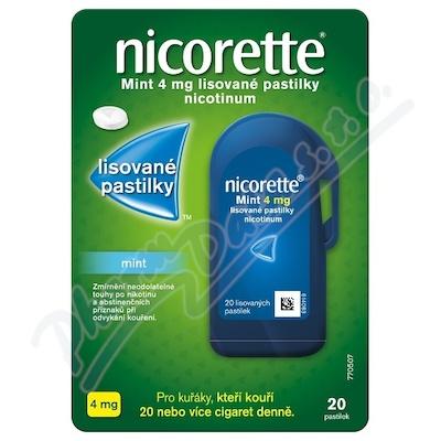 Nicorette Mint 4mg lisované pastilky 20