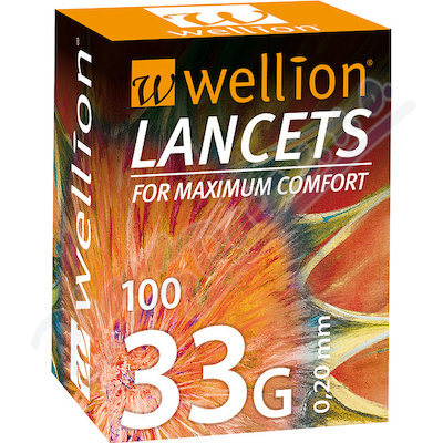 Wellion lancety 33G 100ks