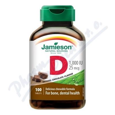 JAMIESON Vitamín D3 1000 IU čoko cucací tbl.100