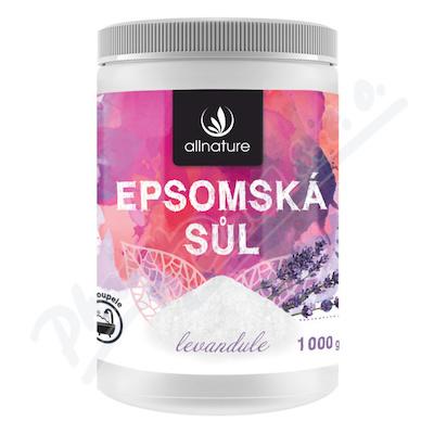 Allnature Epsomská sůl Levandule 1000g