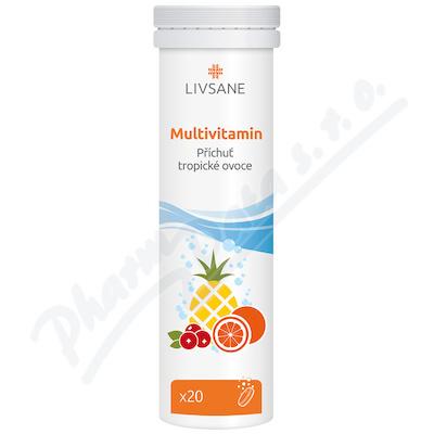 LIVSANE Šumivé tablety CZ Multivitamin tropic 20ks