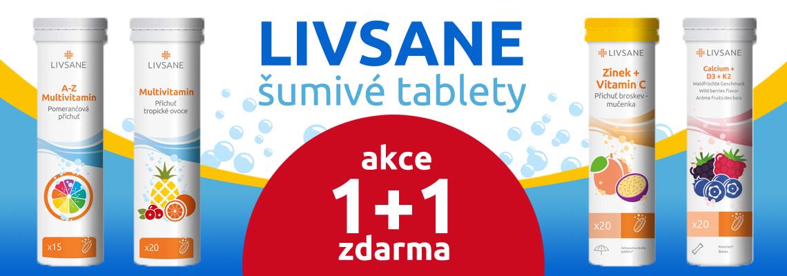 Šumivé tablety LIVSANE - akce 1+1