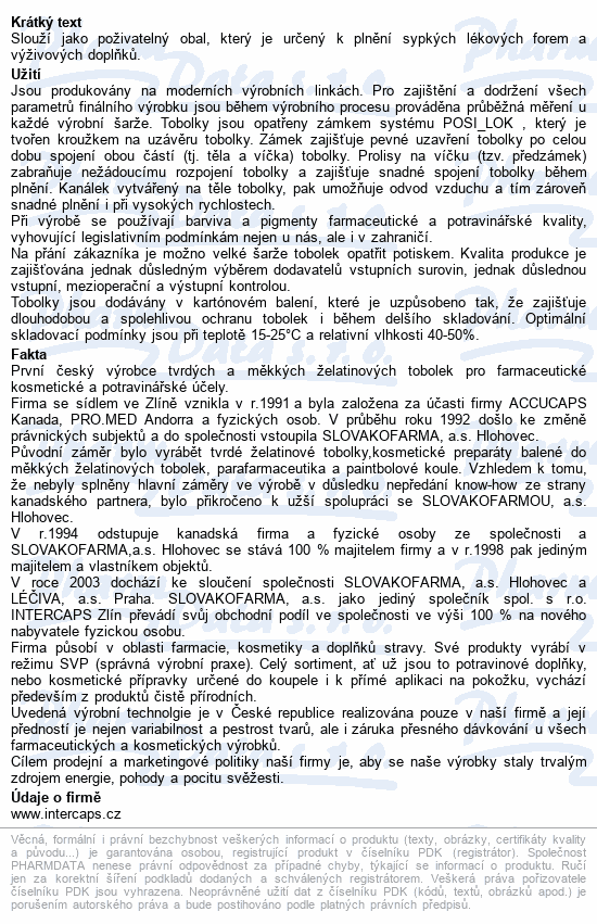 Želatinové tobolky č.00 1000ks transparentní