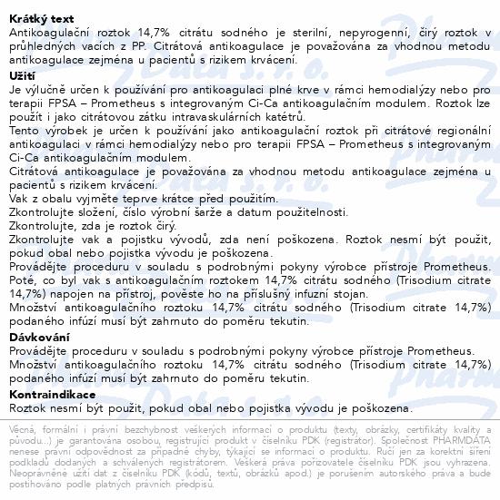 Natrium Citricum 14.7% 500ml