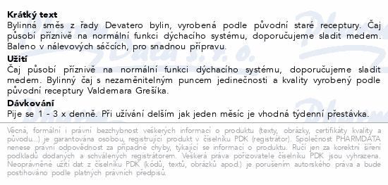Grešík Devatero bylin Průduškový čaj n.s.20x1.3g
