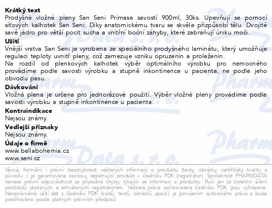 Seni San Prima 30 ks inkont. vlož. pleny