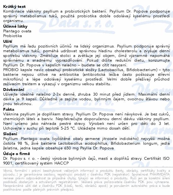 Dr.Popov Psyllium PROBIO cps.120