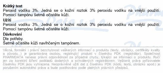 Peroxid vodíku 3% 100ml