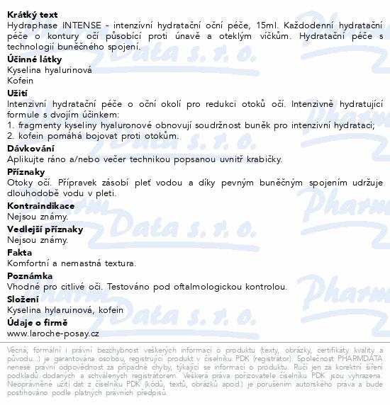 LA ROCHE-POSAY HYDRAPHASE Oční krém 15ml