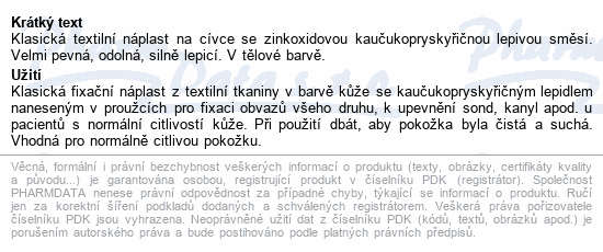 3M Spofaplast Náplast cívková text.134SB 5cmx5m
