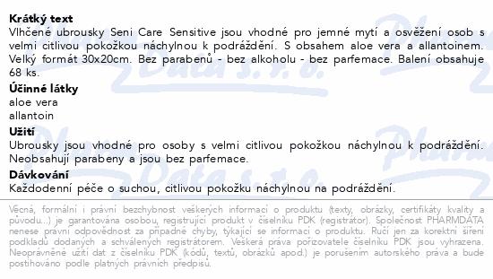 Seni Care vlhčené ubrousky Sensitive 68ks