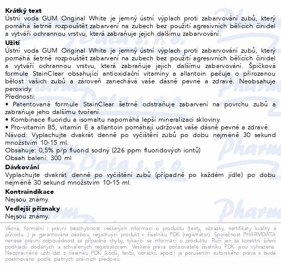 GUM UV Orig.White bělící úst.voda 300ml G1747EMEA