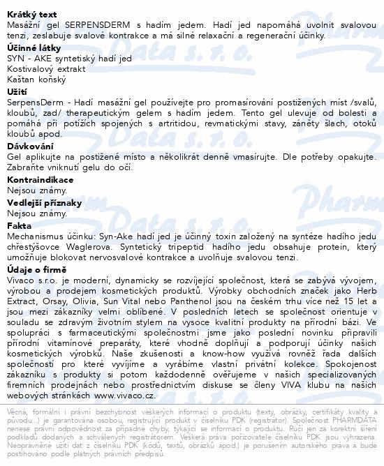 SerpensDerm masážní gel s hadím jedem 250ml