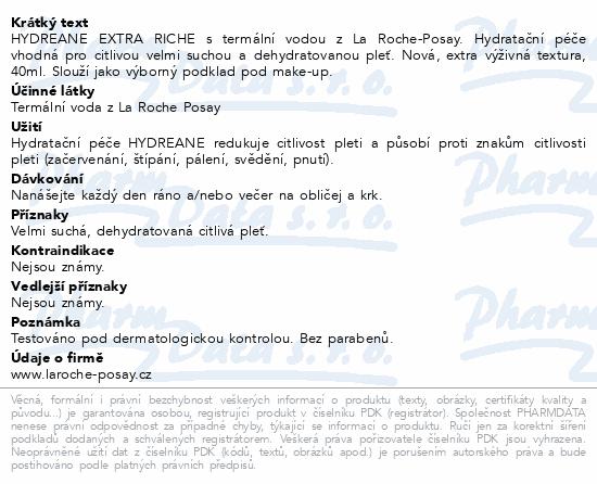 LA ROCHE-POSAY HYDREANE Extra výživný krém 40ml