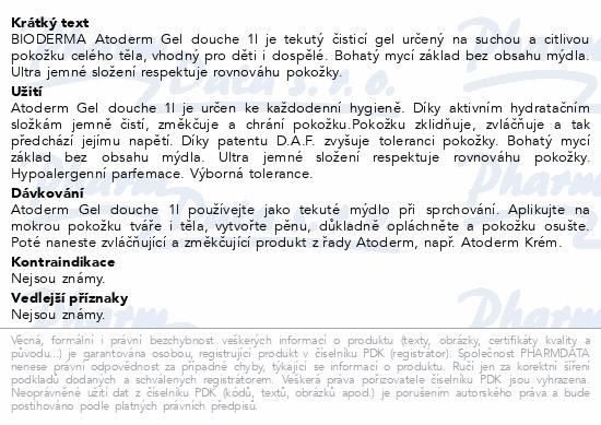BIODERMA Atoderm sprchový gel 1 l