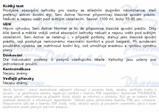 Seni Active Normal Small ink.plen.kalhotky 10ks