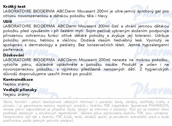 BIODERMA ABCDerm Gel moussant 200ml