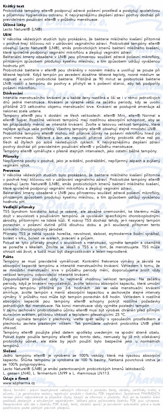 Probiotické tampóny ellen - ECO Normal 22ks