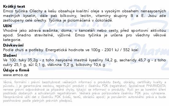EMCO Tyčinka Ořechy a pistácie 35g
