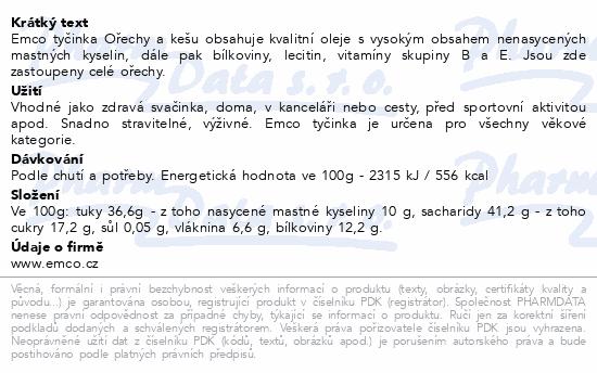 EMCO Tyčinka Ořechy a med 35g