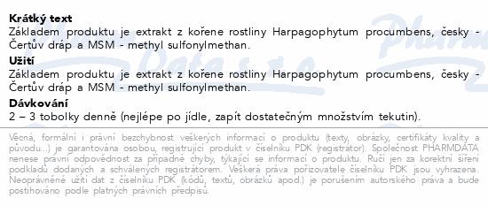 Edenpharma Čertův dráp+MSM cps.60