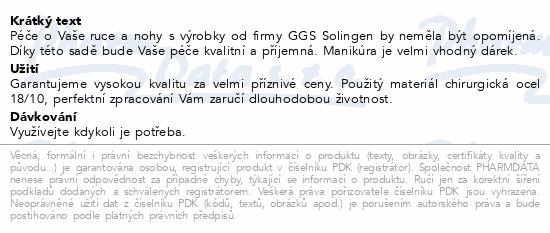 Manikura a pedikura set 23dílů GGS Solingen NO 319