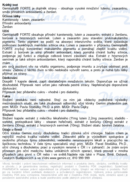 Gemioptal FORTE cps.60