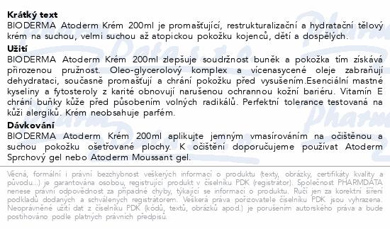 BIODERMA Atoderm krém 200ml