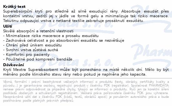 Krytí Mextra Superabsorbent 10x10cm 10ks