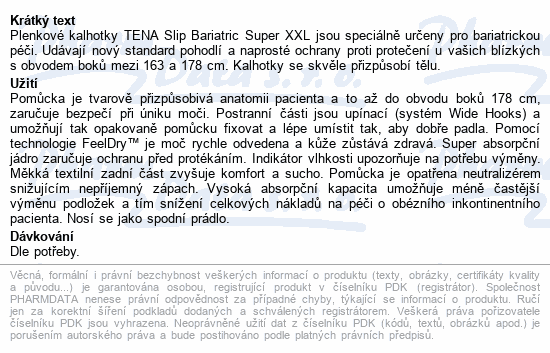 TENA Slip Bariatric Super XXL ink.kalh.32ks 61490