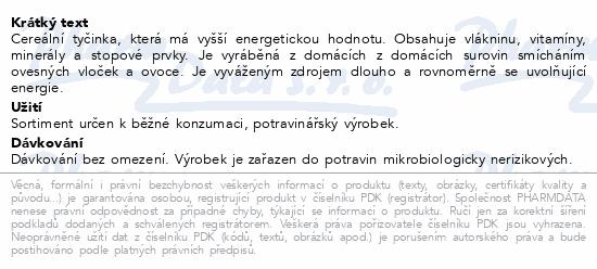 Fit Musli tyčinka Chalenger brusinky a maliny 45g