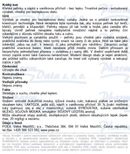 Dexi Křehké peřinky s vanil.příchutí bezlep.150g