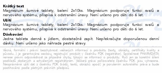 LIVSANE Šumivé tablety Magnézium 500mg 2x10ks