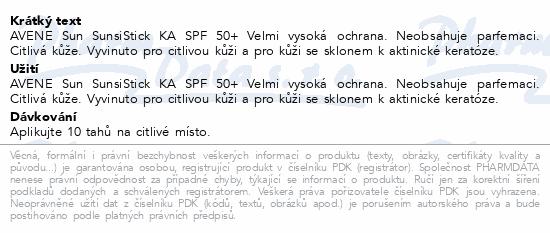 AVENE Sun SunsiStick KA SPF 50+ 20g