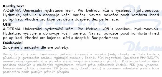 A-DERMA Univerzální hydratační krém 50ml